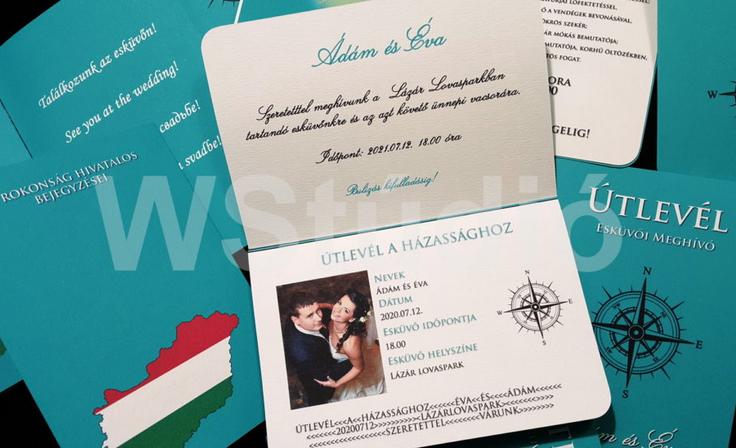 Különleges esküvői meghívó